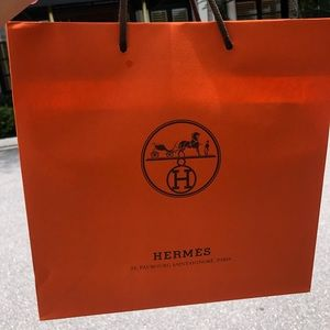 Hermès authentic shopping bag